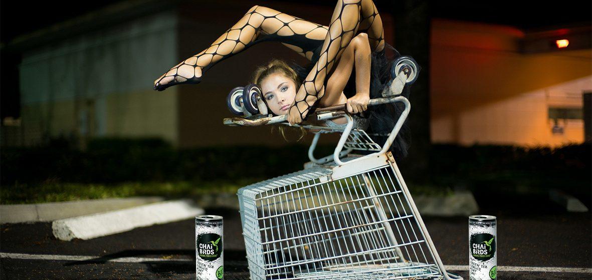 yoga retail shopping new beverage drink Eistee iced tea chai birds
